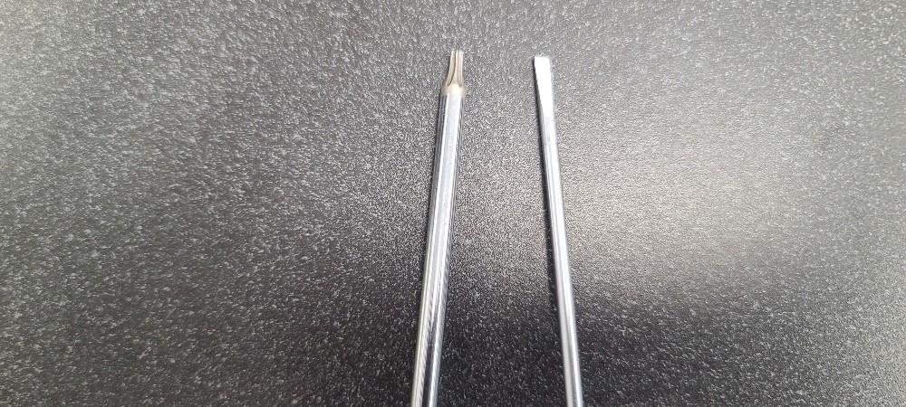 T10 Torx and standard screwdrive